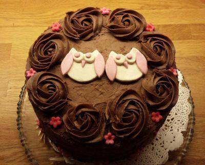 Hei! Her kommer oppskriften på sjokoladekaken som jeg bakte til dåpen i helgen og til broren min...