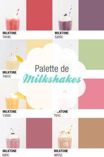 Pantone_milktone_milkshakes_palette_milshake_smoothie_Fraise_myrtilles_cerises_peche_abricot_menthe_chocolat_ananas_mangue_framboise