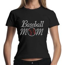 2014 baseball mom fancy rhinestone printed custom t   Best Buy follow this link http://shopingayo.space