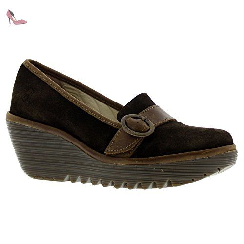 Fly London Womens Yond 771 Sludge/Olive Suede Shoes 40 EU - Chaussures fly london (*Partner-Link)