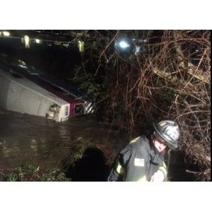 03/08/2016 - California Commuter Train Plunges Into Creek In Sunol; 9 Injured