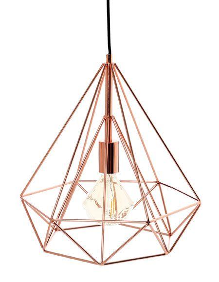 lmpara de techo de estilo diseo en color cobre y tecnologa de casquillo compatible