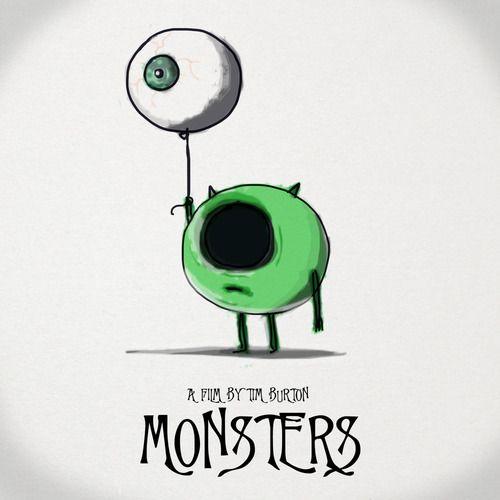 dibujos de monstruos tim bourton - Buscar con Google