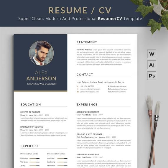 Resume Template Cv Template Professional Resume Template Resume Template Word Creative Resume Design Template Resume Template Examples Resume Templates