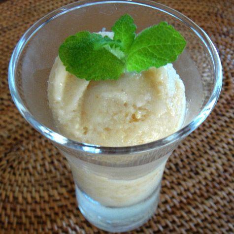 玄米甘酒のジェラート桃味
