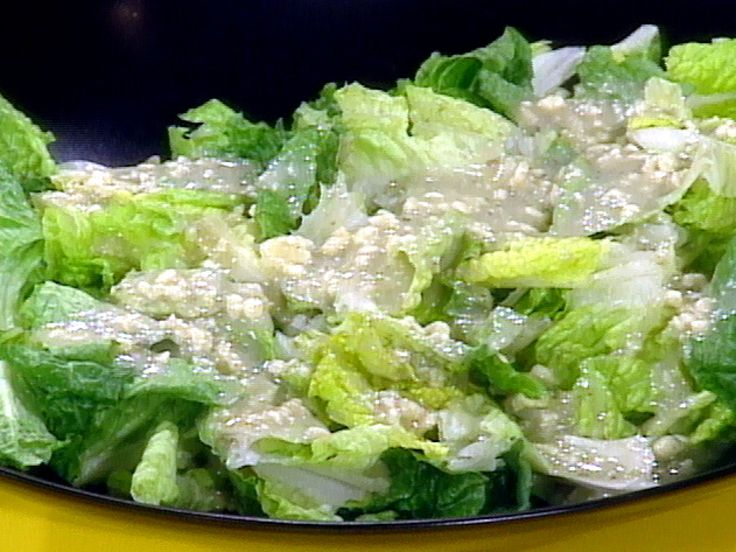 Romaine Salad with Blue Cheese Vinaigrette recipe from Rachael Ray via Food Network