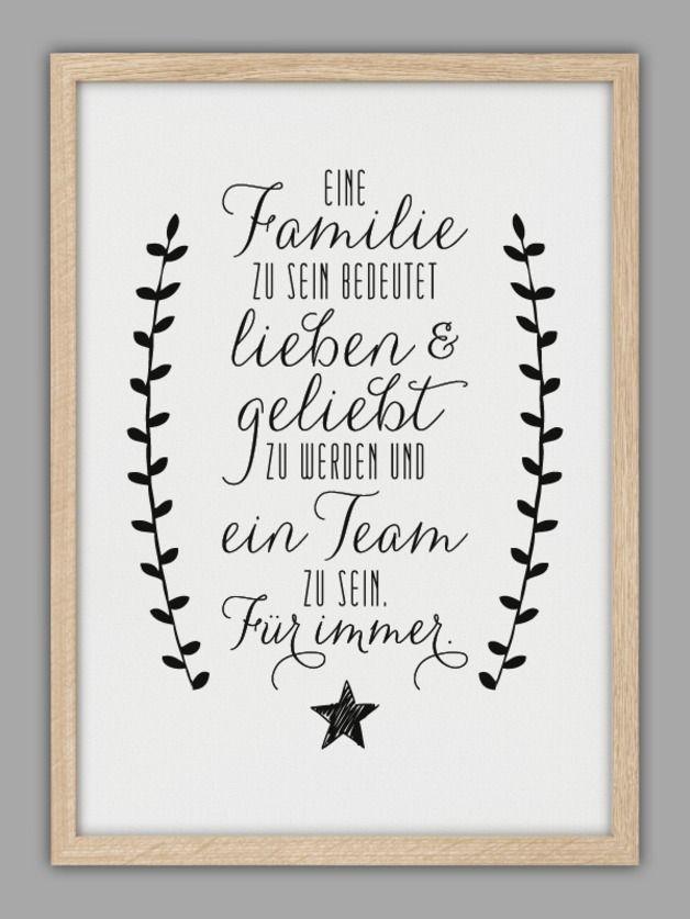 """""""FAMILIE"""" Kunstdruck"""
