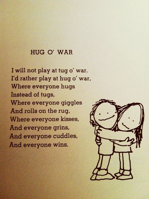 O hug silverstein war poem shel