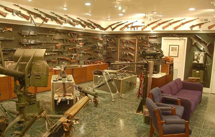 Personally, no home is complete without an armory. It can be used either for some friendly target practice at the home range, or for defense, if for tax haven purposes, you must form your own nation. Hey, I'm just saying, not ruling it out.