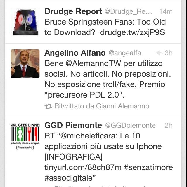 E Alemanno retweetò il falso Angelino Alfano