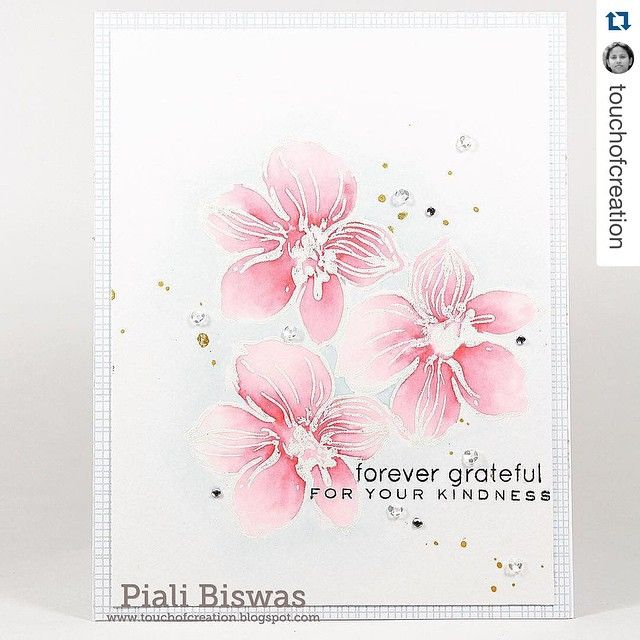 So soft and elegant card by Piali using our #WildHibiscus. Her watercoloring is…