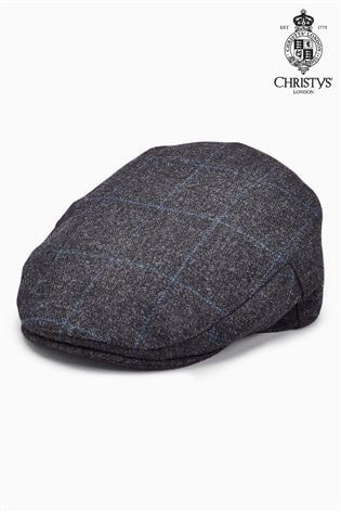 7fa577828 Grey Christys' London Windowpane Flat Cap | Fashion AW19 | Flat cap ...