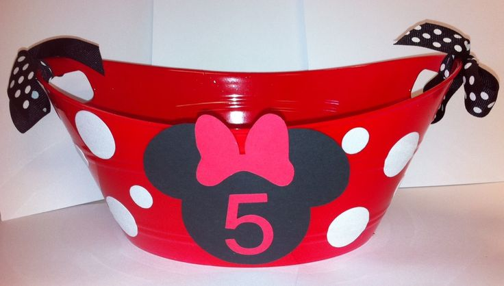 Red Minnie Mouse Party Favor, Mickey Mouse Party, Minnie Mouse Birthday, Minnie Mouse Party. $10.00, via Etsy.
