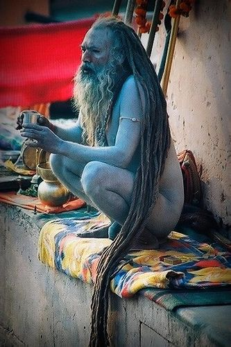 Shivraj Giri Maharaj #2. Varanasi, India by fredcan, via Flickr