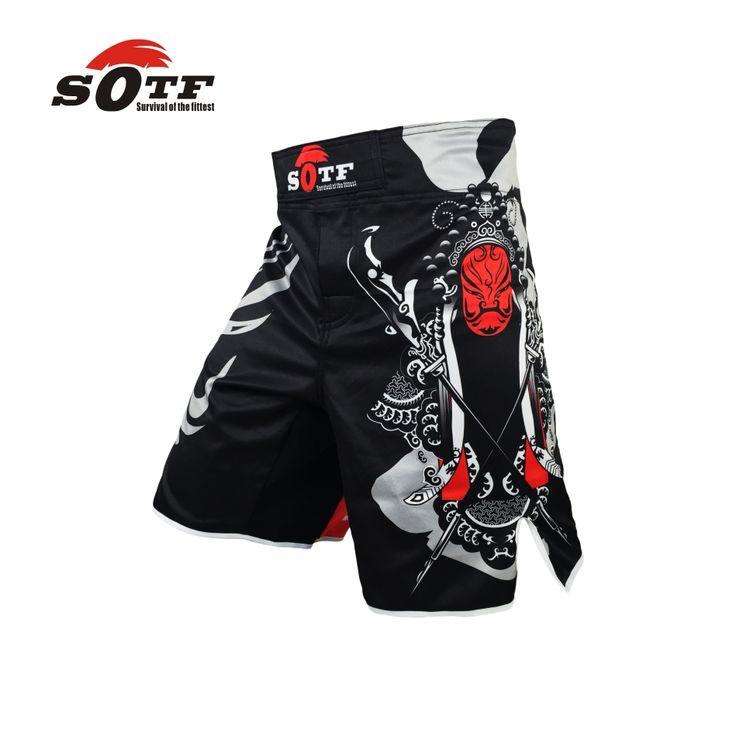 Sotf mmaショーツボクシングトランクスムエタイ隼虎ムエタイキックボクシング三田yokkaoブロック·レスナー戦いボクシング短い