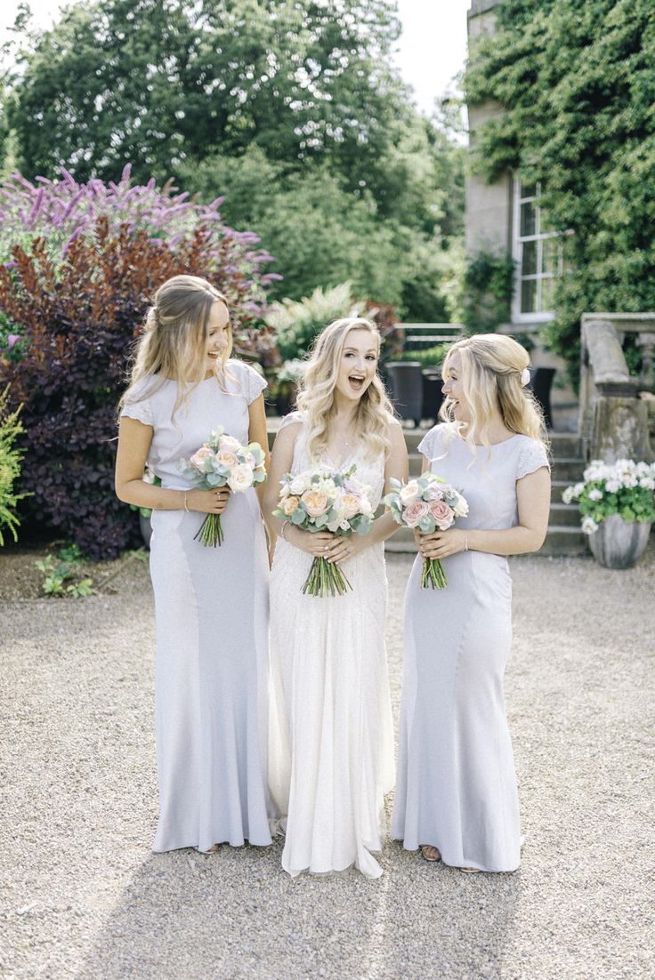 Bridesmaid in Pale Blue Coast Dresses - Sarah-Jane Ethan Photography | Middleton Lodge Pastel Wedding | Preloved Jenny Packham Wedding Dress | Pale Blue Coast Bridesmaid Dresses