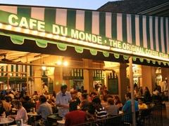 Cafe Du Monde.. NOLA !  love that Chicory coffee .. Love Love a Cafe au Lait !