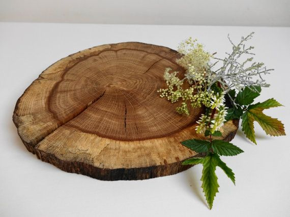 Quot wood slice centerpiece rustic wedding decor oak