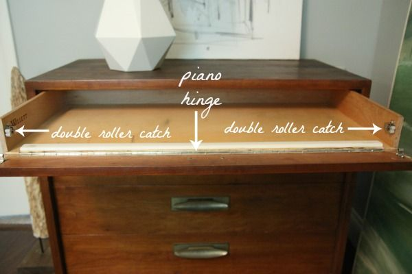 Add Piano Hinge To The Top Drawer Of A Chest Drawers