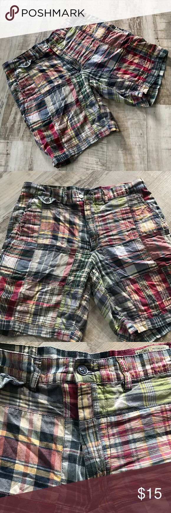 Men's Plaid Polo Ralph Lauren Shorts Men's plaid Polo Ralph Lauren shorts. Used but still in great condition, and they are very light and soft! Size 32. Polo by Ralph Lauren Shorts