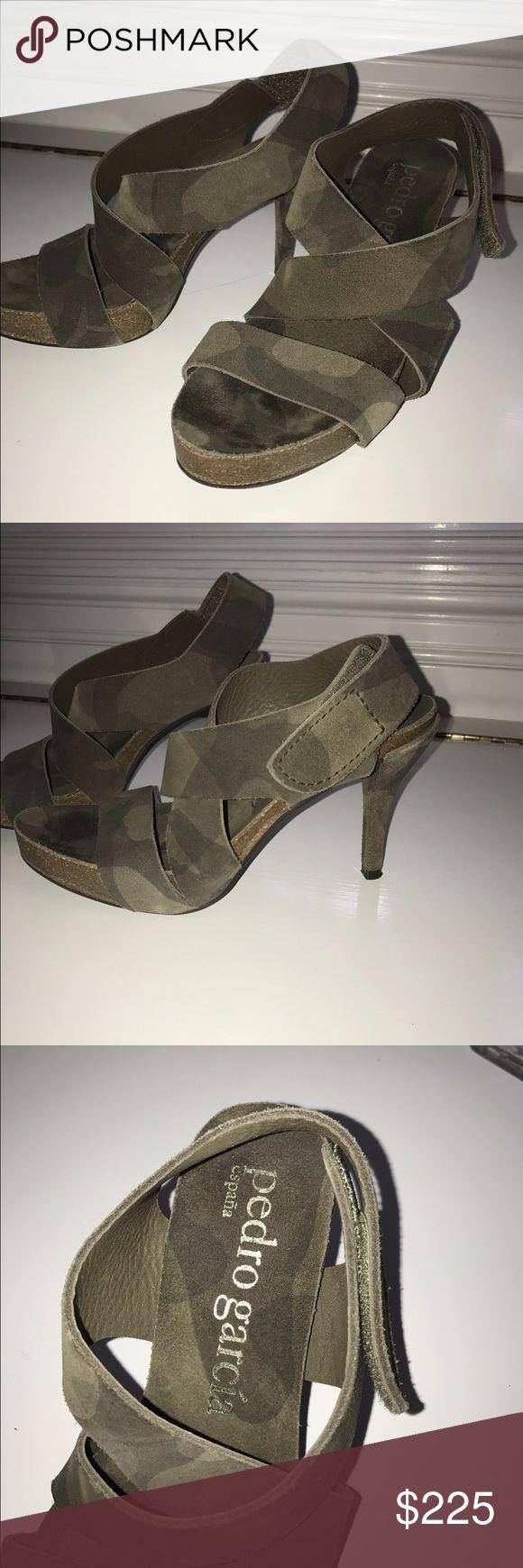 Pedro Garcia espana heels Pedro Garcia Lynna Espana suede high heels size 37 or 7! Gently used. Great condition! Super cute ❤️ made in Spain. Olive/camo color pedro garcia Shoes Heels