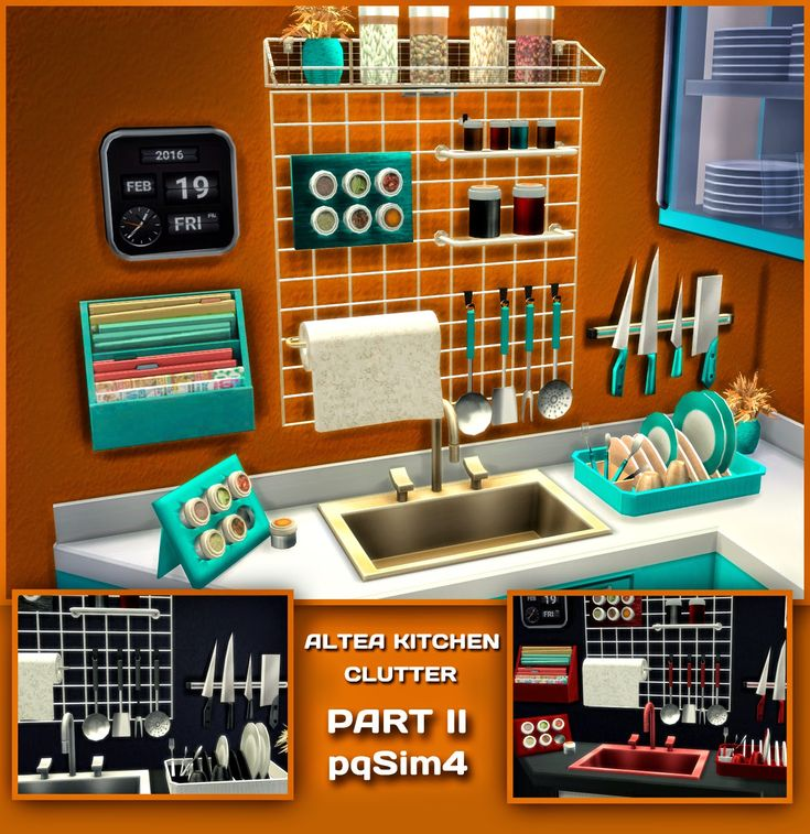 Sims 4 Mm Cc Maxis Match Kitchen Clutter