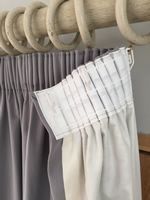 How to make a lined pencil pleat curtain - tutorial by Sew-Helpful