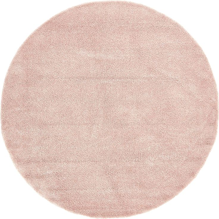 Unique Solo Solid Round Shag Rug (8' x 8') (Pink), Size 8' x 8'