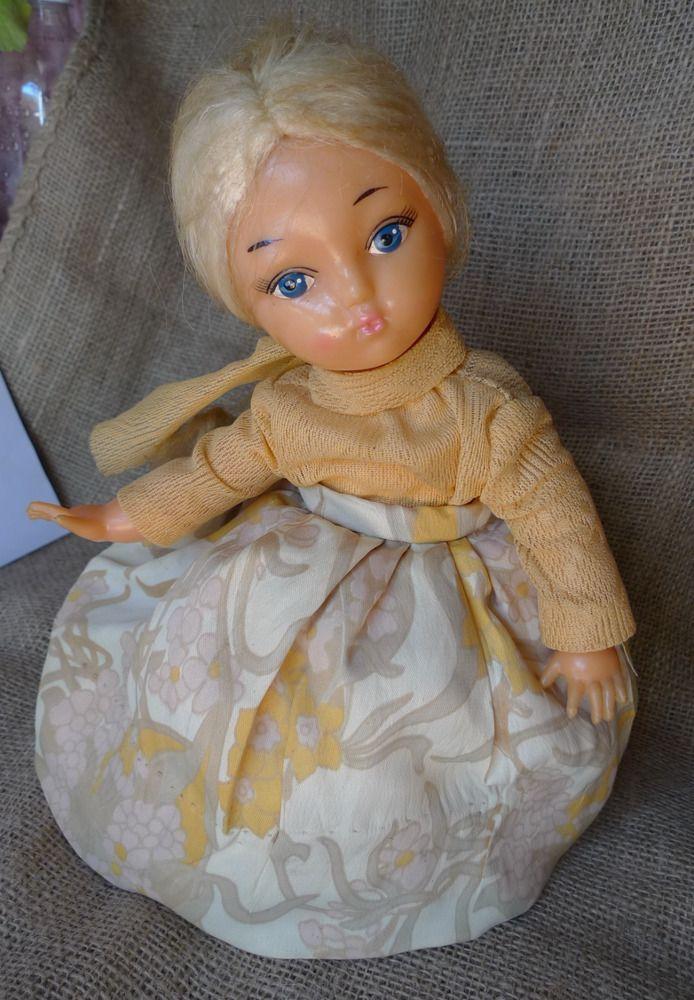 Vintage Folk USSR Soviet Plastic DOLL WARMER for Teapot Samovar Tea Cosy cozy #DollswithClothingAccessories