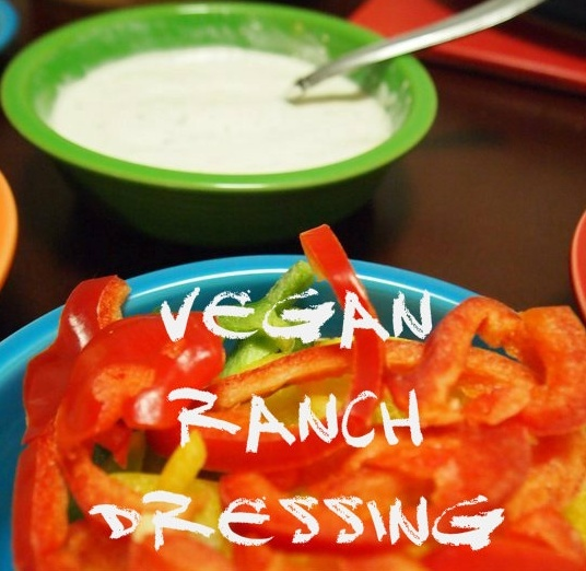 """<3 Vegan Ranch Dressing <3 You'll need Vegan Mayo for this one, but """"Follow Your Heart"""" Vegenaise is pretty easy to find these days at Whole Foods Market, Ralph's, Vons, Sprouts, Gelson's and other mainstream grocery stores! <3 Hurray! <3"""