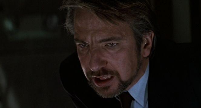 "Hans Gruber (Alan Rickman) en ""Duro de Matar"" (""Die Hard"", 1988)."