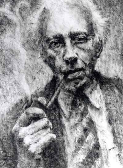 houtskool zelfportret op inges papier. Je kan ook gedetailleerd werk met houtskool. Ik vind dit een zeer mooi portret.