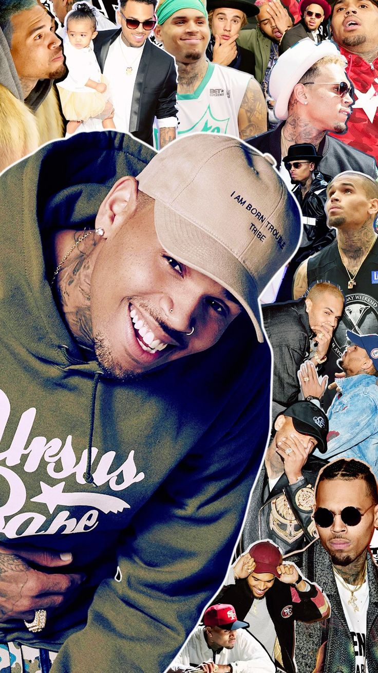 Chris Brown collage