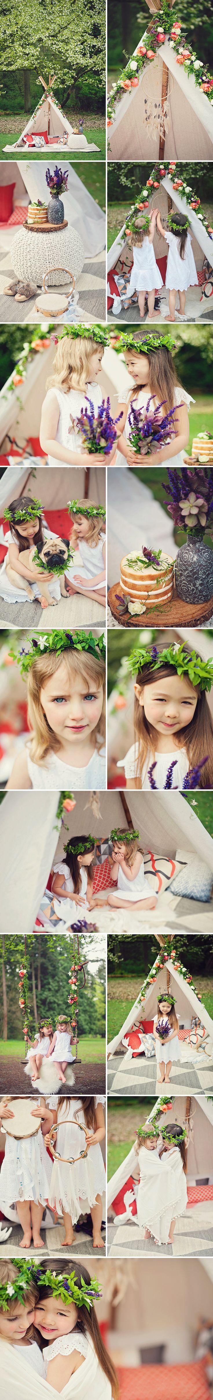 boho flower girls