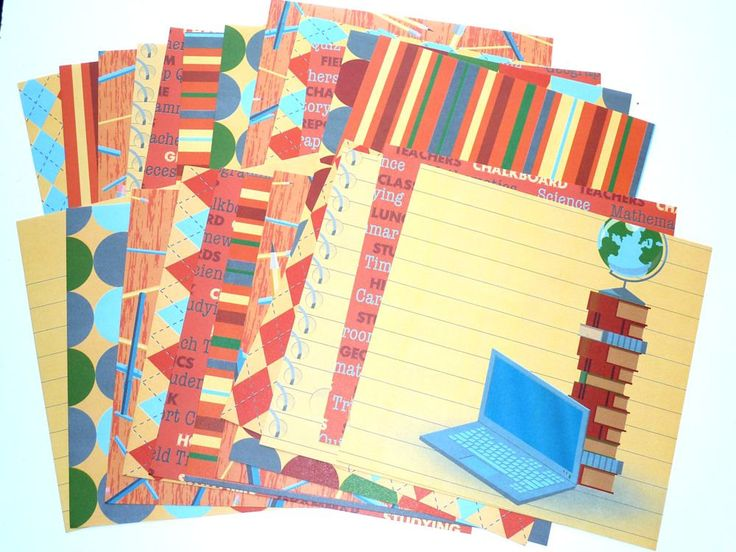Card Stock Back to School  24 Sheets by SouthamptonCreations on Etsy