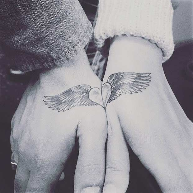Connecting Hand Tattoo Idea for Couples