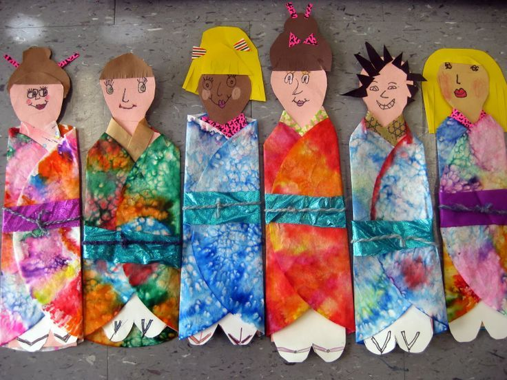 people in kimonos by first grade