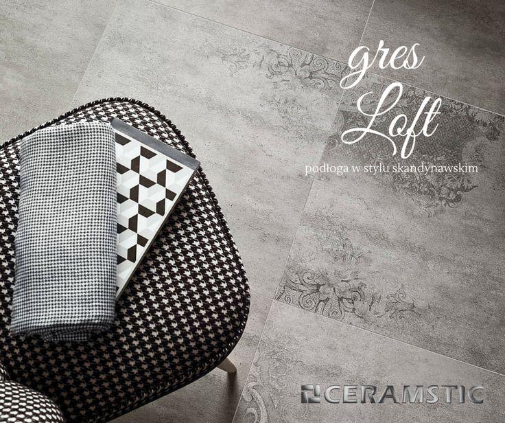 Loft floor tiles in many designs to match with, look like a concrete.  /Płytki podłogowe Loft w kilku różnych odmianach do zestawiania ze sobą, wyglądają jak beton.