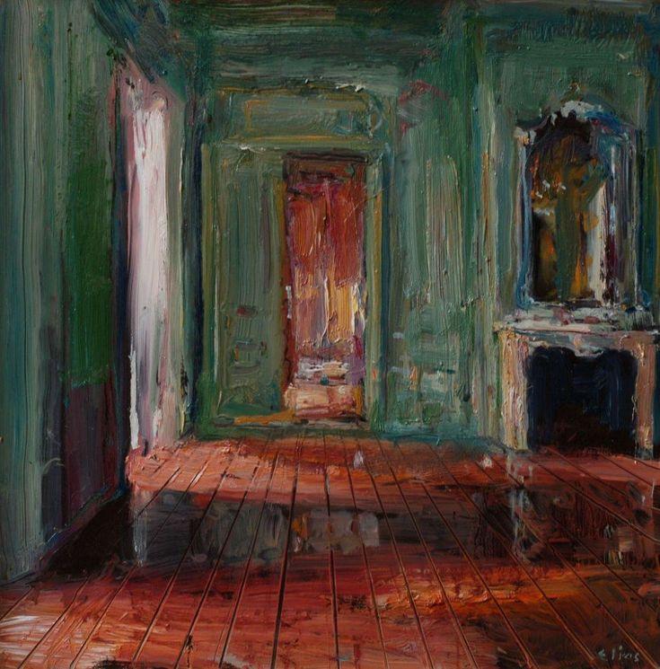 Interieur groene kamer by Douwe Elias
