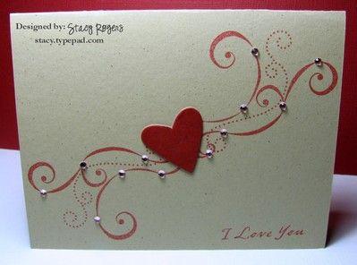 .: Swir Heart, Heart Swirls, Valentines Day, Red Heart, Cards Valentines Heart, Pearls Valentines, Valentines Cards, Cards Heart, Heart Cards