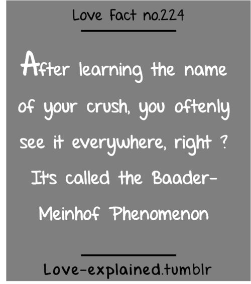 Love facts (crush,psychology,phenomenon,lol,funny,relatable,sotrue,so true,love,crush)