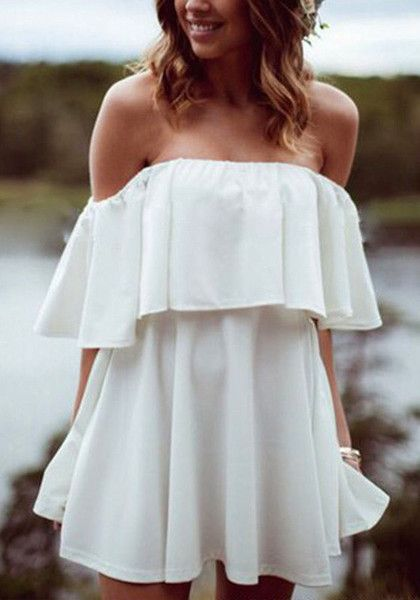 Ruffle Off-Shoulder Dress