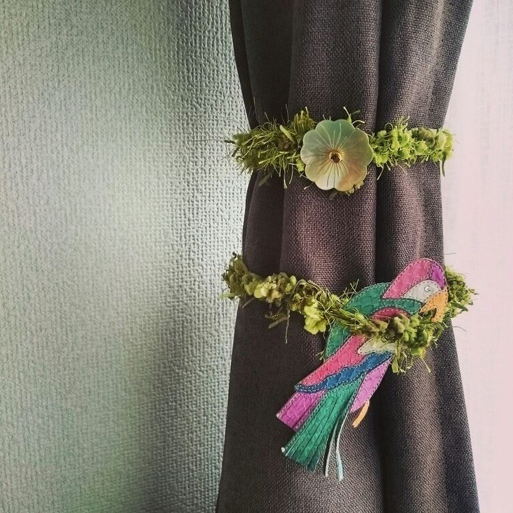 I made: Curtain stopper