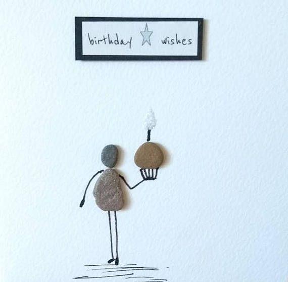 Geburtstagskarte, Karte für sie, Kieselkarte, Karte der niedlichen Karte der ungewöhnlichen Karte lustige Karte Freundkarte, backende Liebhaberkarte, Mama / Frau / Schwester