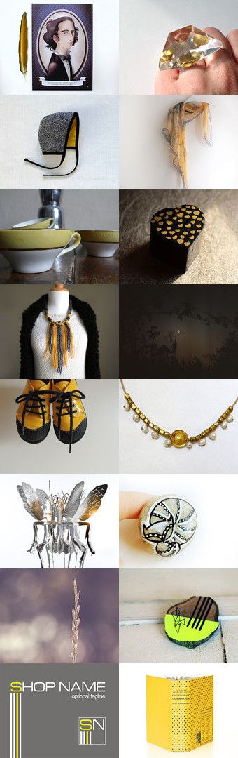 Yellow is the new black. No wait: black is the new yellow by Ginger Zoo and Co. on Etsy--Pinned with TreasuryPin.com