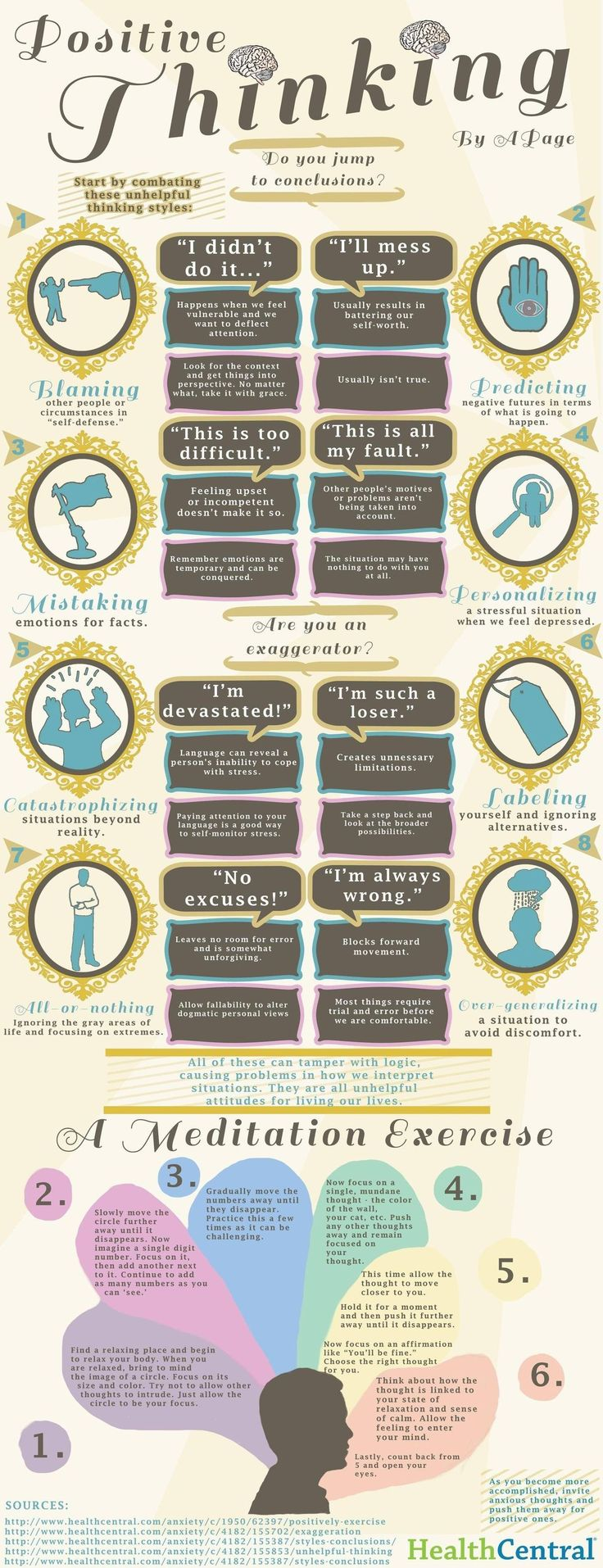 """positive quotes about life  http://www.positivewordsthatstartwith.com/     How to think positive - also includes a meditation exercise """"Positive thinking evokes more energy, more initiative & more happiness"""" #infographic...x"""