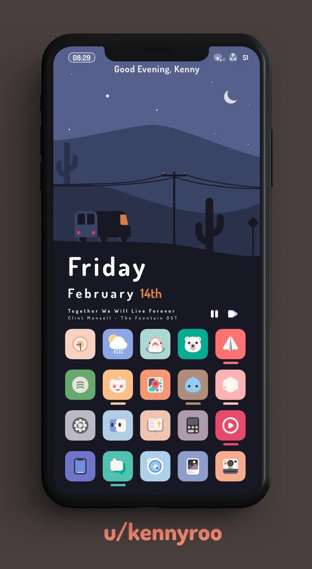 Setup Road To The West Iphone Xs Max 12 1 Iosthemes Widget Design App Interface Design Android Design