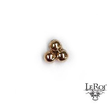 3 Bead Cluster - 14k Gold Ends Collection - Default