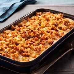 Not sure what to do with your leftovers from Thanksgiving dinner? Combine your turkey, mashed potatoes, cranberry sauce, and more together in this delicious leftover turkey casserole recipe!