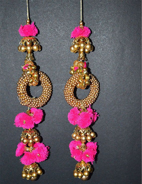 Banjara Style Handmade Authentic Accessory. It is made with pom-poms and beads. You will look lovely wearing this vintage accessory and